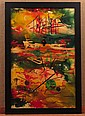 Joseph Meierhans (1890-1981), Abstract Oil Textured  Painting