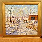 Christopher Willett Oil on Canvas Winter Scene Plumstead PA
