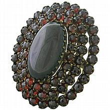 Antique Bohemian Garnet Cocktail Ring