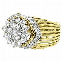 Hammerman Brothers Diamond Gold Platinum Ring