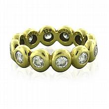 Tiffany & Co Jazz 18k  Gold 1.00ctw Diamond Band Ring