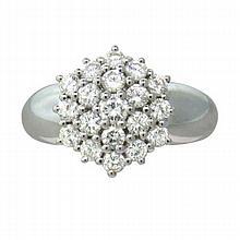 Damiani 18k Gold Diamond Cocktail Cluster Ring