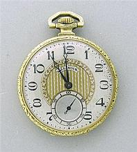 1920s Illinois Railroad 14k Gold Filled Pocket Watch