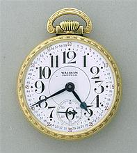 Waltham 10k Gold Plate Riverside Pocket Watch
