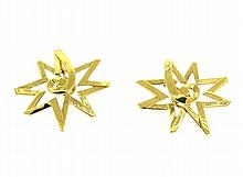 Tiffany & Co Paloma Picasso Star 18k Gold Earrings