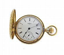 Antique Elgin 14k Gold Pocket Watch
