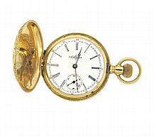 Antique 14k Four Color Gold Illinois Pocket Watch