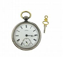 Waltham Sterling Key Wind Pocket Watch