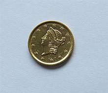 1852 Liberty Head 1 Dollar Gold US Coin