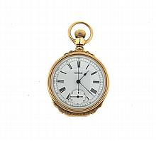 Rare 14k Gold Waltham Box Case Chronometer Pocket Watch