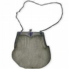1920 Deco  Silver 935 Mesh Mini Purse