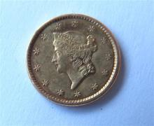 1851 Liberty Head 1 One Dollar Gold US Coin