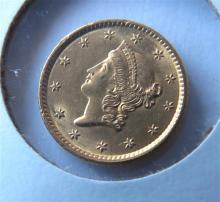 1852 Liberty Head 1 One Dollar Gold US Coin