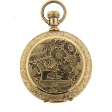 A. W. Co. Waltham 14k Gold Pocket Watch