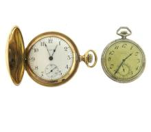 Elgin Gold Filled Case Pocket Watch Lot of 2