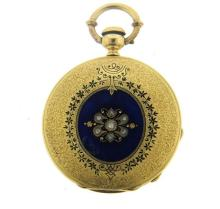 Antique Montandon 18k Gold Diamond Pocket Watch