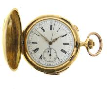 Antique 18k Gold Minute Repeater Chronograph Pocket Watch