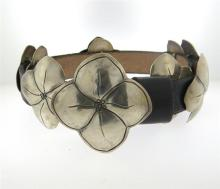 Native American Sterling Leather Belt