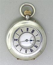 Antique Silver Semi Hunter Pocket Watch