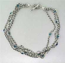 Scott Kay Sterling Blue Topaz Necklace
