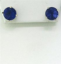 14k Gold Amethyst Stud Earrings