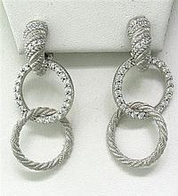 Judith Ripka Sterling Cubic Zirconia Circle Earrings