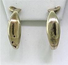 Tiffany & Co Sterling Hoop Earrings