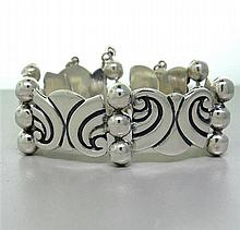 Taxco Mexican Sterling Bracelet Earrings Set