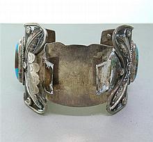 Native American Sterling Turquoise Bracelet