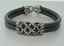 Scott Kay Sterling Leather Bracelet