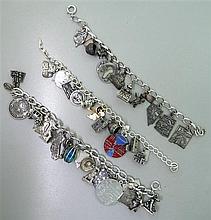 Sterling 3D Charm Bracelet Lot of 3