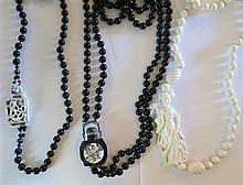 Lot of 3 Asian Bead Necklaces