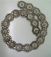 Mexican Sterling Turquoise Belt
