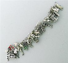 Sterling 3D Charm Bracelet