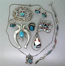 Native American Zuni Gemstone Jewelry Lot