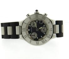 Cartier Chronoscaph 21 Stainless Steel Rubber Watch