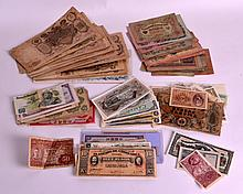 A COLLECTION OF VARIOUS BANK NOTES including America, Britiain etc. (qty)