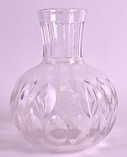 AN UNUSUAL WHITE STAR LINE GLASS DECANTER of facetted form, engraved with the White Star Line House Flag. 6.75ins high. Provenance: Private Local Collection