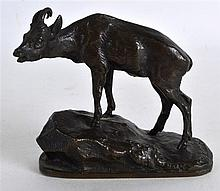 A 19TH CENTURY FRENCH BRONZE FIGURE OF A MOUNTAIN