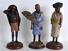 A SET OF THREE LATE 19TH CENTRY INDIAN TERRACOTTA