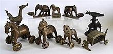 A GROUP OF 18TH AND 19TH CENTURY INDIAN BRONZE FIG