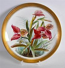 A FINE MINTON PORCELAIN CABINET PLATE painted with