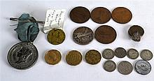 A COLLECTION OF VARIOUS ANTIQUE COINS. (qty)