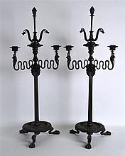 A FINE PAIR OF 19TH CENTURY ITALIAN TWIN BRANCH CA