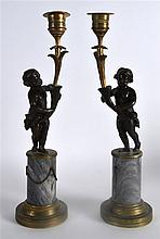 A GOOD PAIR OF REGENCY BRONZE CANDLEABRA each mode