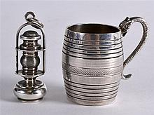 A LOVELY EDWARDIAN NOVELTY ENGLISH SILVER MINING L