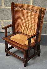 A RARE ANTIQUE ORKNEY CHAIR of small proportions.