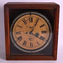A RARE EARLY 20TH CENTURY WARSHIP CONVOY 'ZIG ZAG' CLOCK contained within a