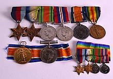 A COLLECTION OF WWI MEDALS presented to both Lieut L S Harris & Pte W Steph