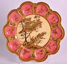 A LATE 19TH CENTURY ROYAL CROWN DERBY CABINET PLATE painted with overlaid f